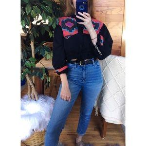 🌿 Vintage Western Aztec Cozy Flannel Top 🌿